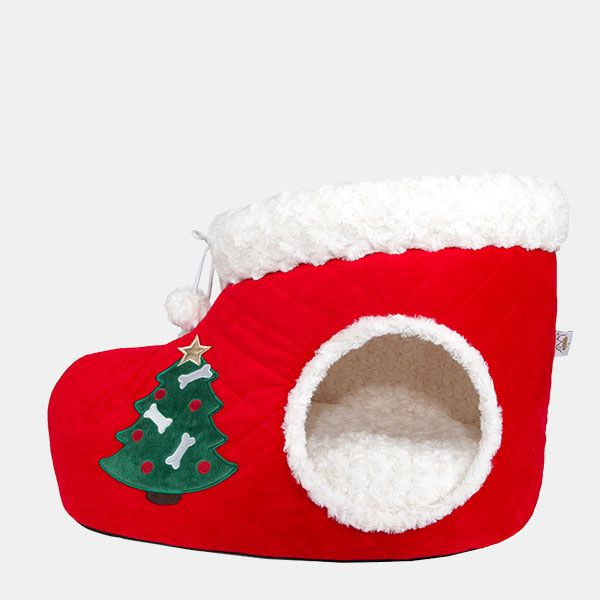 Christmas Stocking Cat Bed
