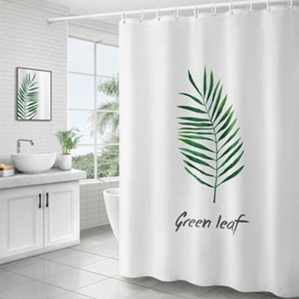 INOpets.com Anything for Pets Parents & Their Pets Green Leaf Shower Curtain