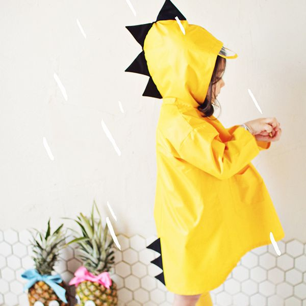 INOpets.com Anything for Pets Parents & Their Pets Children Cute Dinosaur Raincoat